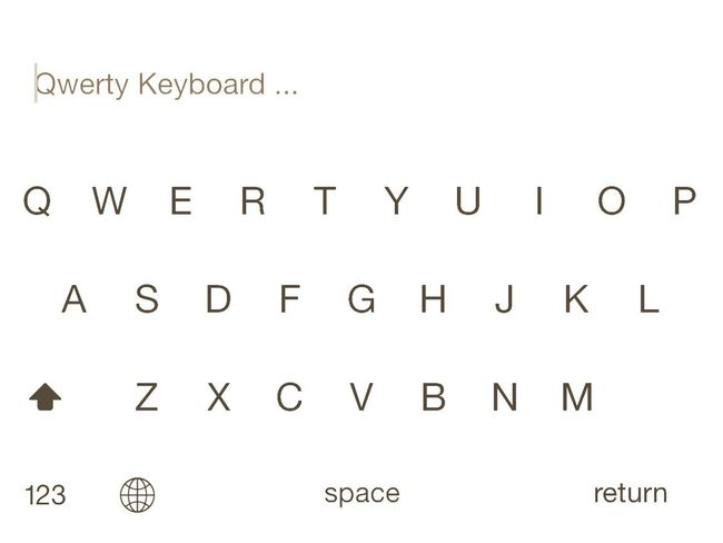 Q Blackandwhite Qwerty Keyboard Qwerty