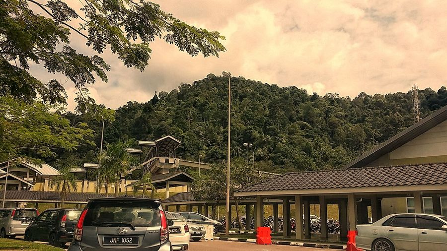 Car Land Vehicle Mode Of Transport Transportation Tree Outdoors Day Sky Architecture No People Mountain View Eyemphotography EyeEmNewHere Kluang Famous KluangMan Landscape Travel Destinations Beauty In Nature