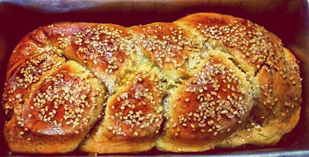 Happiness is the smell of a freshly baked bread.. #Homemade #braidedbread #delicious Bread Food And Drink Food Loaf Of Bread Bun Whole Wheat