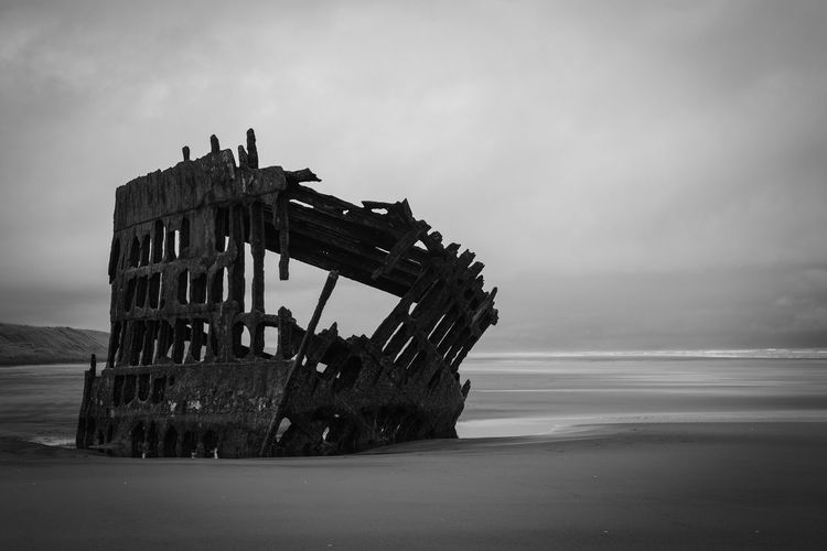 Oregon Ship Wreck Wreck Beach Beauty In Nature Day Horizon Over Water Nature No People Oregon Coast Outdoors Scenics Sea Ship Sky Tranquility Water