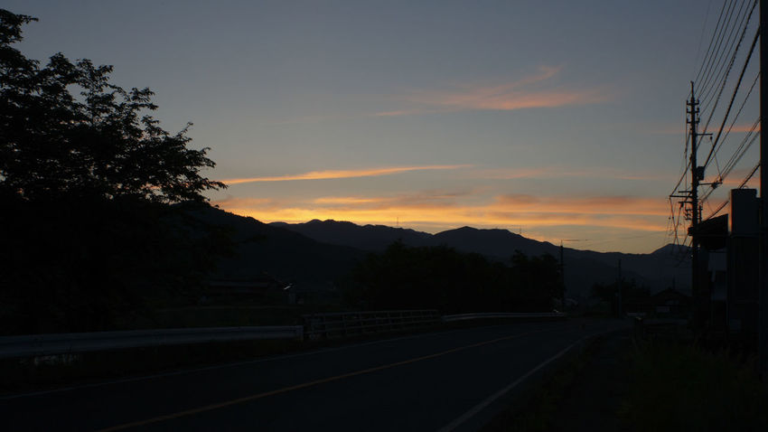 Sunset Tree Mountain Silhouette Landscape Road Nature Day Takumar 28mm F3.5 Nex5