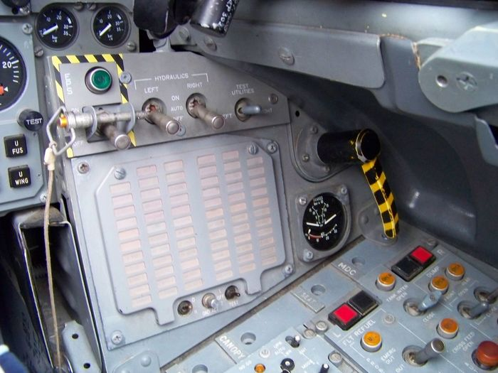 Control panel in airplane