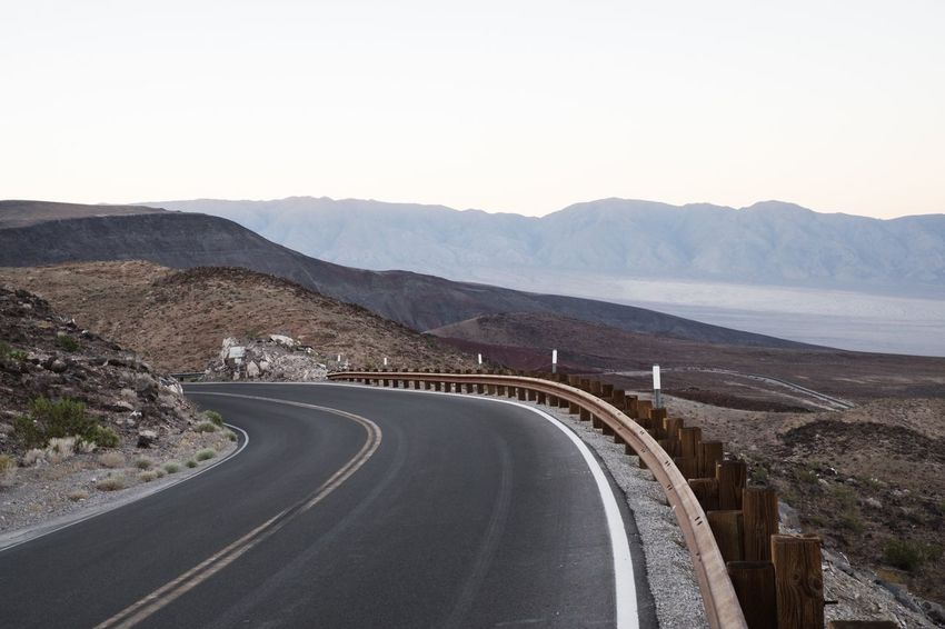 Death Valley USA Wanderlust Beauty In Nature Clear Sky Landscape Mountain Nature Outdoors Road Roadtrip Scenics