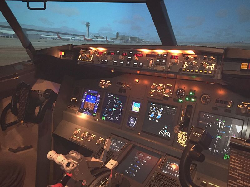 Technology Cockpit Flying Control Panel Flight Simulator