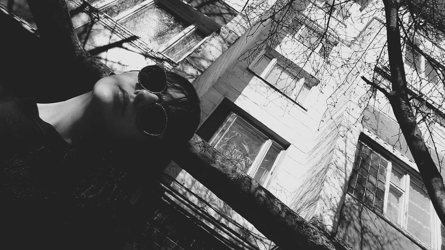 Where's the sun? One Person Spring Blackandwhite Twenties Faded Girl Moldova Best  Sunglasses Memories First Eyeem Photo Leisure Activity Lifestyles Only Men Adults Only One Man Only Indoors  Young Adult Men People Adult Real People Day
