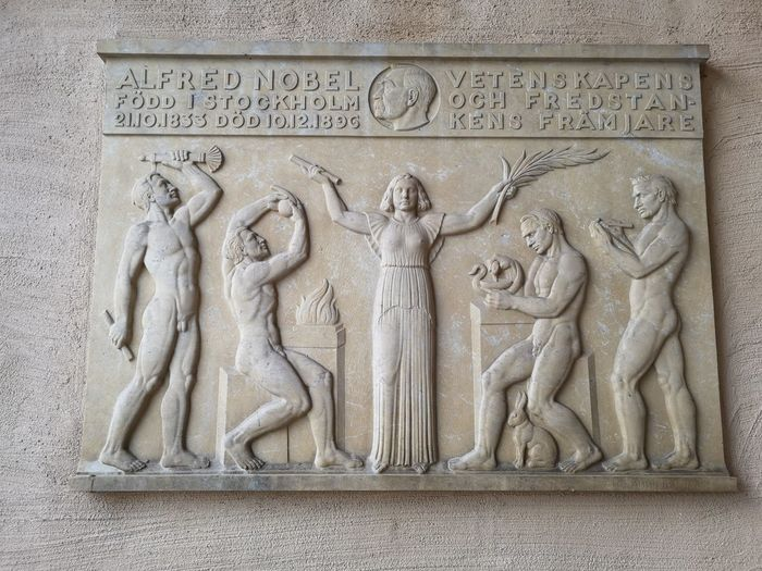 Nobel Prize Stockholm, Sweden December Bas Relief Ancient Civilization Sculpture Close-up Architecture Building Exterior Built Structure Carving - Craft Product Carving Male Likeness Idol Female Likeness