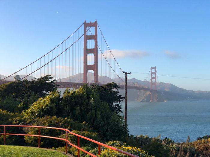 Golden Gate Bridge San Francisco Golden Gate Bridge Connection Bridge Built Structure Bridge - Man Made Structure Architecture Suspension Bridge Sky Engineering Travel Destinations Tourism Travel