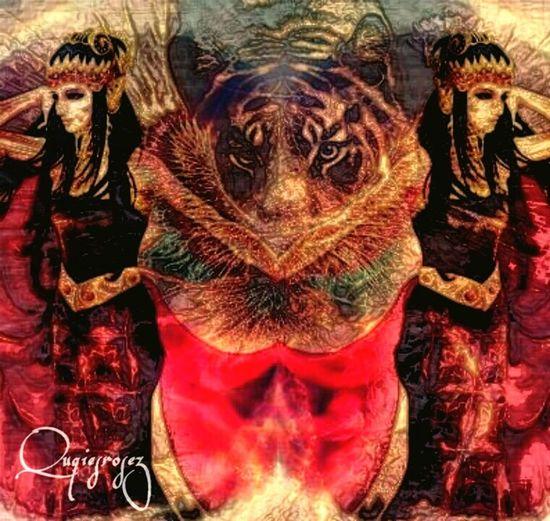 Adruja Srikandi #royal #nusantara_asia #truly Asia #JustMe #myIlustration #beautiful #Twins  #bangsawan #Tiger #spirit #art #illustration #drawing #backtopast Water Multi Colored Close-up Art Product