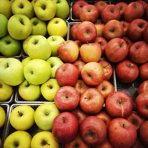 Full Frame Shot Of Apples At Store
