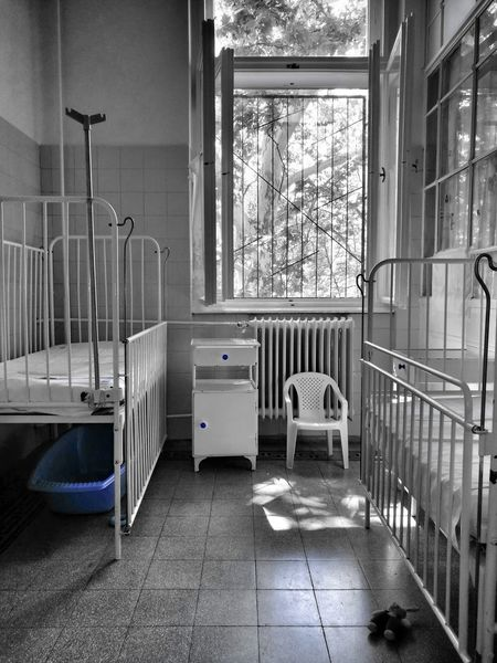 Indoors  Architecture Children Hospital Furnitures Children's Hospital  Blue Balck And White