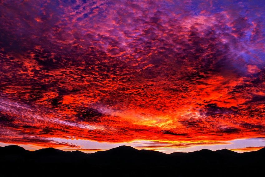 Sunset from West Jordan, Utah, USA...11/13/2017. Mountain Dramatic Sky Nature Sunset Red No People Lava Beauty In Nature Silhouette Outdoors Accidents And Disasters Scenics Power In Nature Landscape Sky Night Landscape_lovers Landscape Photography Landscape_photography Landscape_Collection Silhouette Photography Silhoutte Photography Silouette & Sky Silhouette_collection Silhouettes