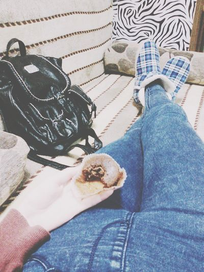 😁😉✌ Relaxing Halfeaten Muffin Leather Bag At Home