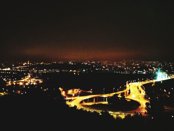 My city at night (sightseeing from Miradouro do Vale do Inferno) Portugal Black Background Yellow Night Illuminated City Water Sky No People Nature Transportation Cityscape Outdoors Glowing Aerial View Travel Destinations Mode Of Transportation Nightlife Architecture HUAWEI Photo Award: After Dark