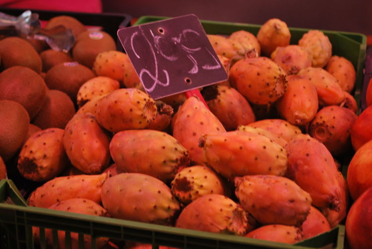 Barcelona Barcelona, Spain Cactus Catalonia Catalunya Close-up Day Food Food And Drink Food And Drink For Sale Freshness Fruit Fruits Healthy Eating Large Group Of Objects Market Market Stall No People Opulence  Outdoors Price Tag Retail  SPAIN