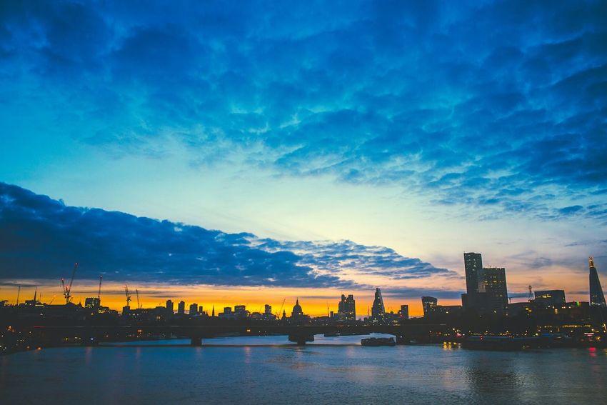 London Sunrise Uk City Colour Color Embankment Waterloo Waterloobridge Check This Out