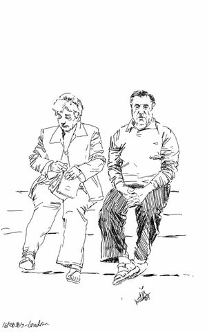 People Sketch Old Couple Kaay