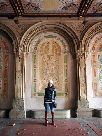 Architecture Bethesda Bethesda Terrace Built Structure Casual Clothing Central Park Full Length Lifestyles New York New York City Standing