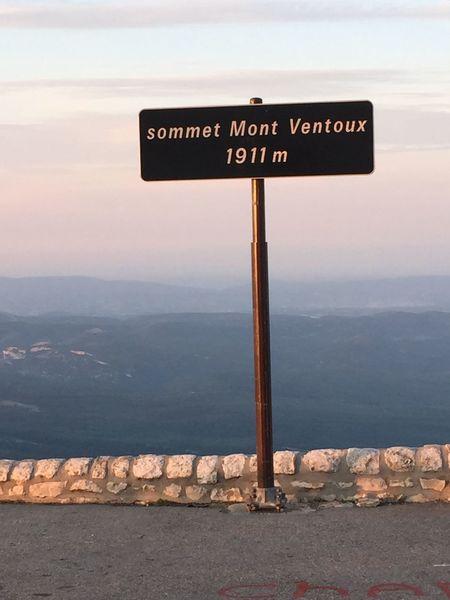Summit Mountventoux France Provence sign