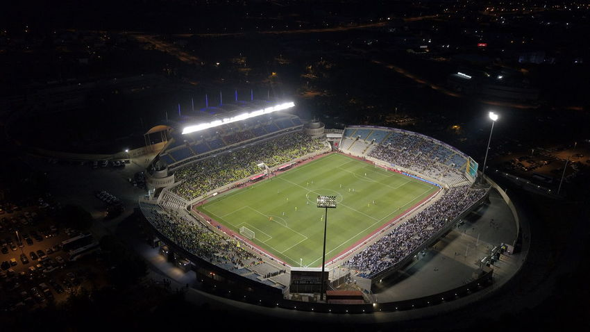 Cyprus DJI Mavic Pro Fotball Fever Nicosia Night Photography Nightphotography AMONIA Apo Football Field Football Game Football Stadium