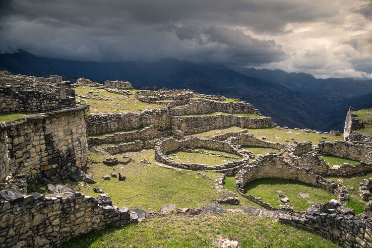 Kuelep ruins. Architecture History Ancient The Past Cloud - Sky Old Ruin Sky Nature Built Structure Mountain Old Ancient Civilization Ruined Travel Travel Destinations Tourism Damaged Bad Condition Archaeology Outdoors No People Stone Wall Peru