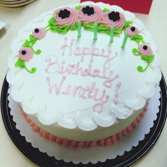 Wendy's Burthday Cake Sweet Food Cake Dessert Sweet Food And Drink Baked Food Birthday Cake Celebration Unhealthy Eating Temptation Birthday Ready-to-eat Indulgence Anniversary Text Event Freshness Western Script Life Events