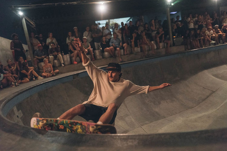 Skating in bali Skateboarding Skatepark Arts Culture And Entertainment Audience Crowd Enjoyment Full Length Illuminated Indoors  Large Group Of People Leisure Activity Lifestyles Men Night People Performance Real People Skate Skateboard Skateboarder Skater Stage - Performance Space Togetherness Young Adult