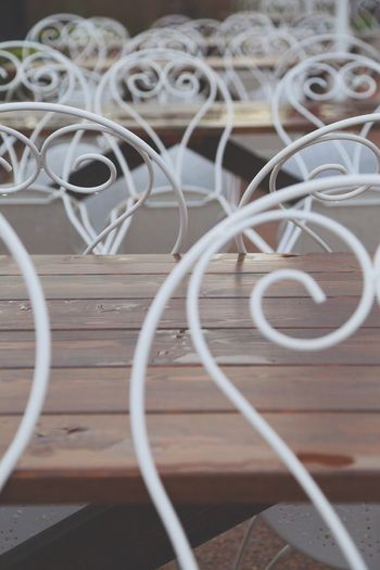 Shapes Shapes And Forms Shapes And Patterns  Shapes And Lines MaterialDesign Design Furniture Design Cafe Chair Chairs Ironwork  Multiple Layers White Furniture Empty Chair