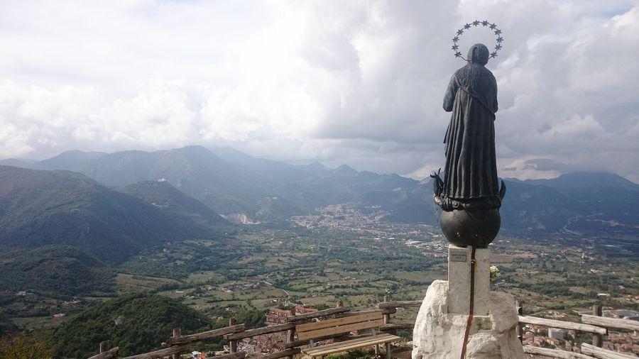 Italy Avellino Irpinia Santo Santa Statue Holly Church