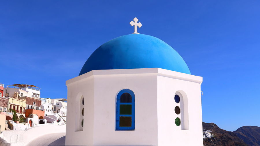 Building against blue sky