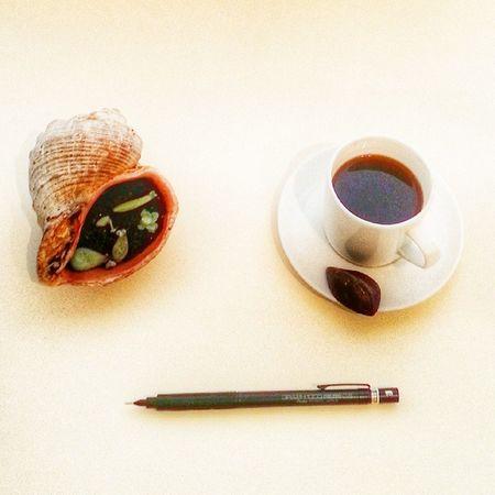 Calismam icin yeterli ortam elemanlari☕📝🌵Working Writing Study Coffee Monday Pazartesi Kahve Mini Terrarium Pencil Love Aftereight