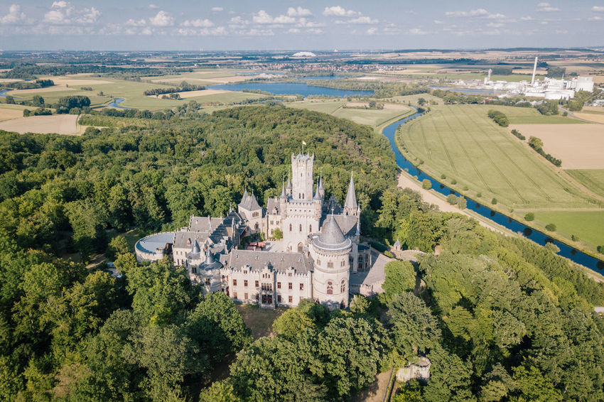 Radtour durch Niedersachsen. Von Hannover zum Bruchsee Aerial Shot Bike Ride Castle Draußen Drone  Fahrrad Hannover Marienburg Nature Pattensen Schloss Marienburg Aerial Aerial View Architecture Bike Bikes Biketour Building Exterior Built Structure Day Green Color Land Landscape Lower Saxony Nature Navigation Niedersachsen No People Outdoors Plant Radtour Scenics - Nature Tree