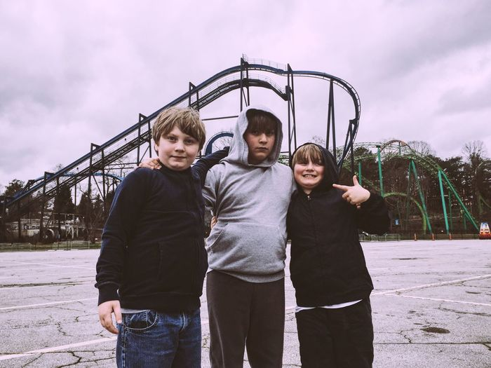 Youth Of Today Brothers Little Boys Six Flags Georgia Roller Coaster Theme Park