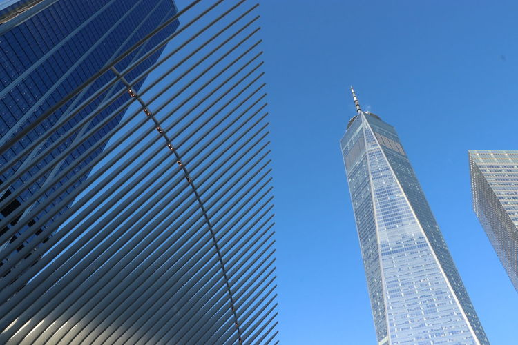 New York City One World Trade Center Building Skyscraper No People Tall - High Clear Sky
