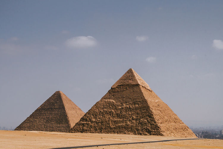 Low Angle View Of Kheops Pyramid Against Sky