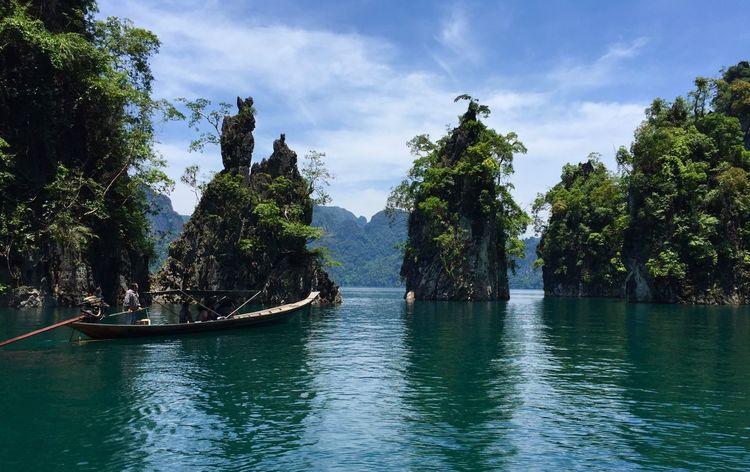 Lake Boat Khao Sam Gler Suratthani Thailand Landmark Ratchaprapadam Dam