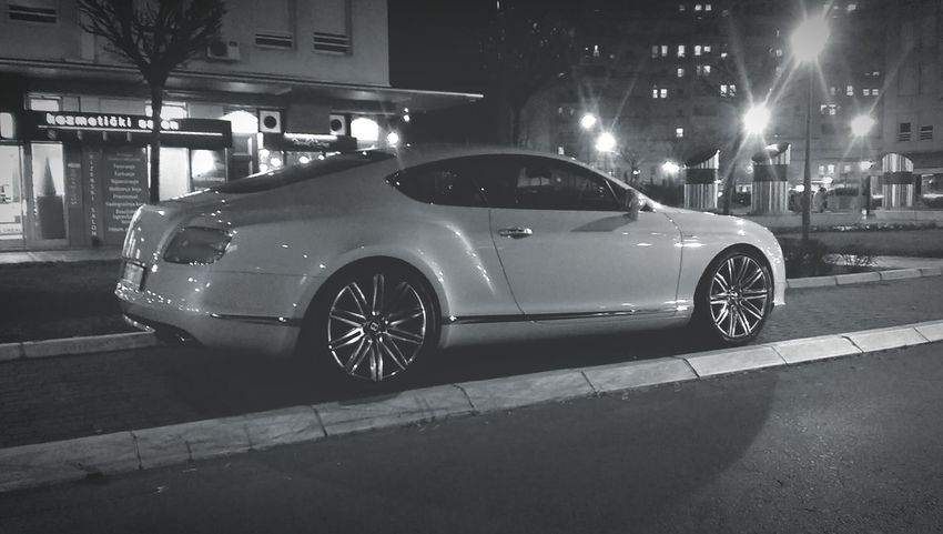 Bentley in the hood Novibeograd Carspotting BentleyContinental Photography Blackandwhite Htconem8 Htconeography