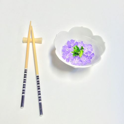 Two Is Better Than One Flower Food Chopsticks Purple Flowers Flower Head Asian  Still Life Flower Soup Soup Fine Art Simplicity Minimalism No People Eating Food Foodporn Food Porn Edible Flowers Bowl Of Soup Purple Flower Lunch From My Point Of View Flowerporn Fine Art Photography EyeEm Masterclass Be. Ready. Food Stories