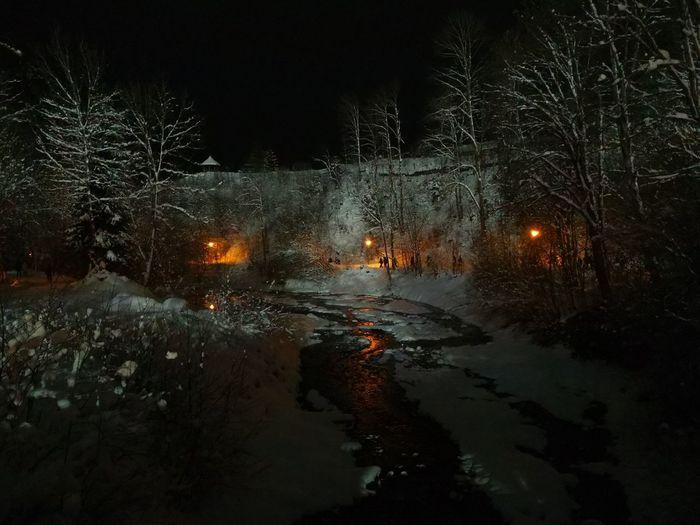 Vierschanzentournee Oberstdorf & Umgebung Night Water Reflection No People Outdoors Illuminated Winter