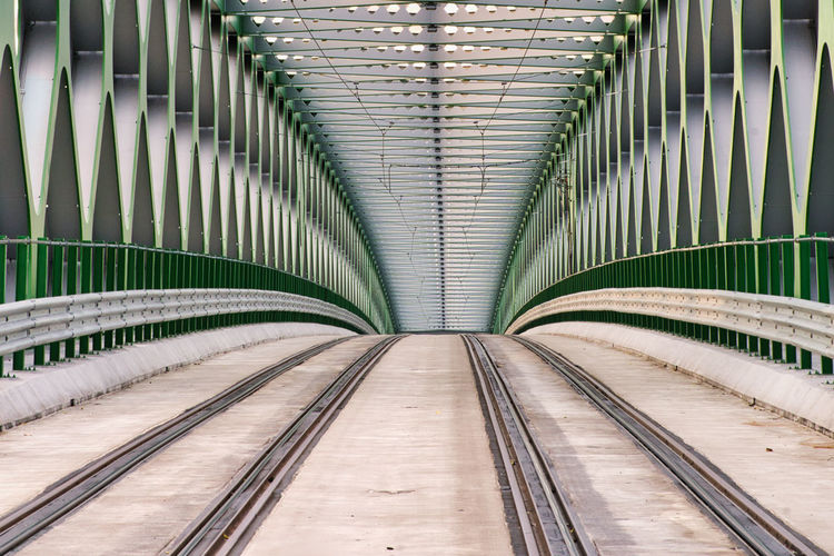 Empty railway bridge