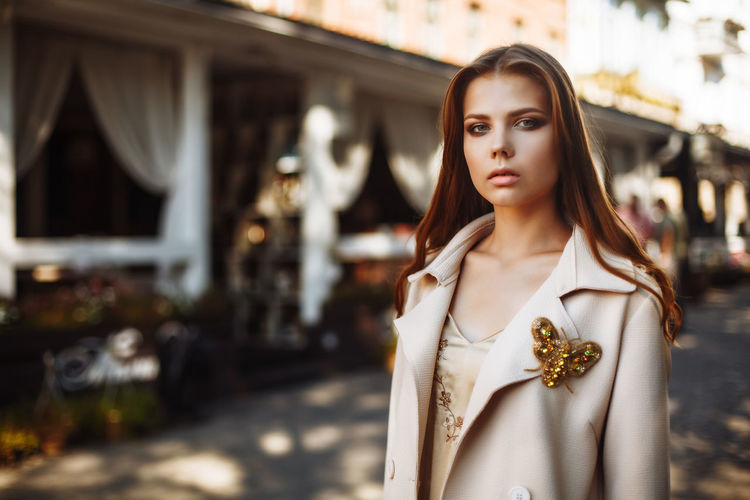 Adult Beautiful Woman Beauty Clothing Contemplation Day Fashion Focus On Foreground Hair Hairstyle Jewelry Looking Luxury One Person Portrait Retail Display Waist Up Women Young Adult Young Women
