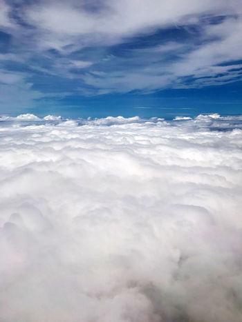 Walking in heaven! Dramatic Sky Cloud - Sky Sky Heaven And Earth Godscreation Walking Blue Dramatic Heaven Avion Plane View Panamaoutdoors Travel Photography