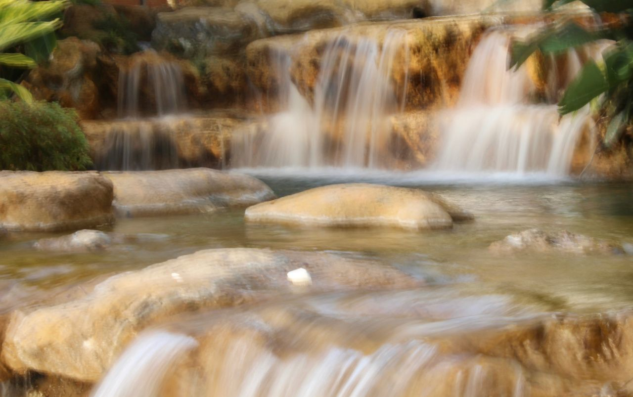 water, motion, waterfall, long exposure, flowing water, blurred motion, nature, beauty in nature, scenics, rock - object, no people, outdoors, day, hot spring