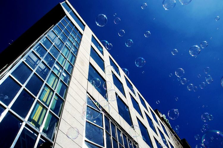 Architecture Sky Built Structure Building Exterior Space City Science Outdoors No People Vertical Bubbles Sea And Sky Underwater Embrace Urban Life Prague