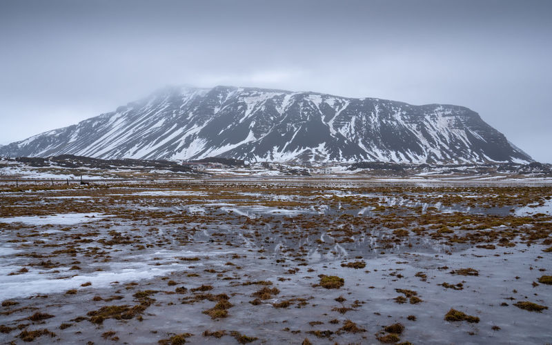 Wintertime in Iceland Winter Wintertime Iceland Europe Landscape Nature Rural Scene Rural Countryside Scenics Scenics - Nature Scenery Outdoors Travel Travel Destinations Tourism Tourist Attraction  Mountain Mountain Range Snow Cold Temperature Cold Panorama Panoramic