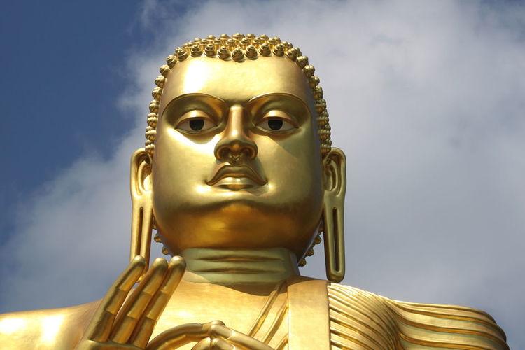 Art And Craft Buddha Close-up Cloud - Sky Creativity Dambulla Day Golden No People Outdoors Religion Spirituality Sri Lanka Statue Market Reviewers' Top Picks