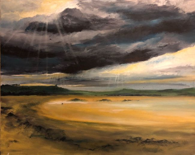 Walk through the storm ArtWork Acrylic Painting ArtWork Artist Art Acrylic Painting Cloud - Sky Sky Scenics - Nature Beauty In Nature Landscape Environment No People Tranquil Scene Non-urban Scene Water Nature Land
