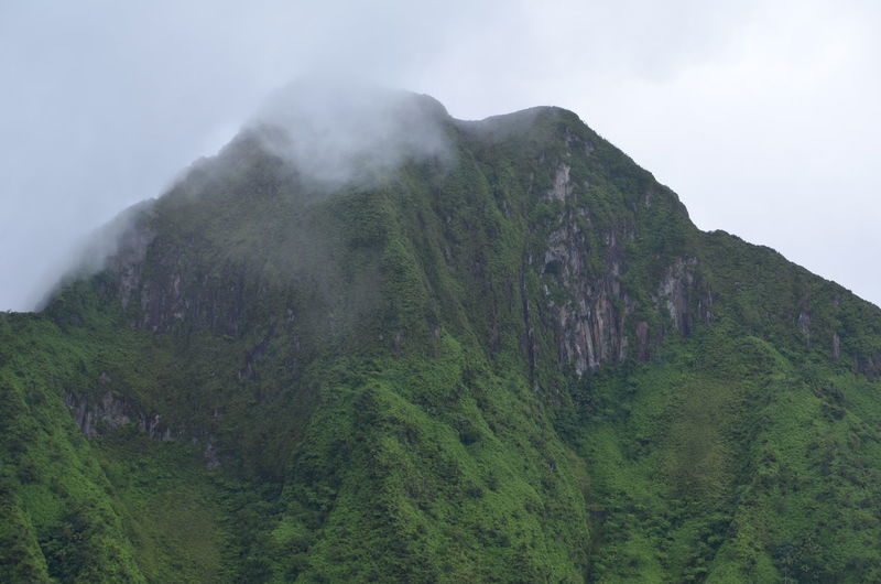 Cliff Cloud Geology Mount Liamuiga Mountain Physical Geography Remote Rock Formation St. Kitts Volcano