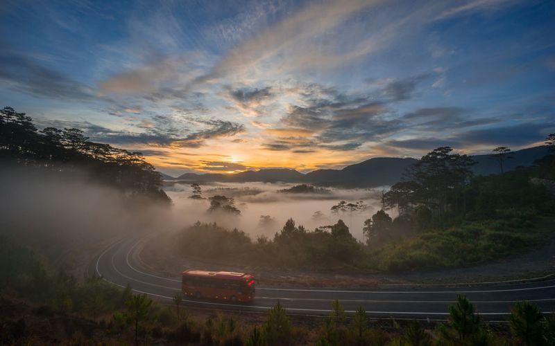 Sky Cloud - Sky Sunset Environment Landscape Plant Scenics - Nature