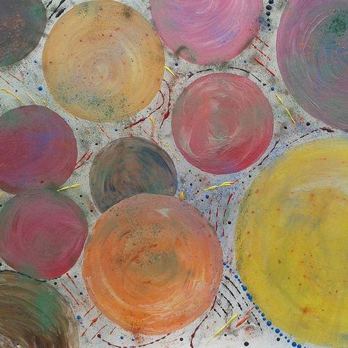 TableauAbstrait Mespeinturesacryliques Ballons Art ballonessaie