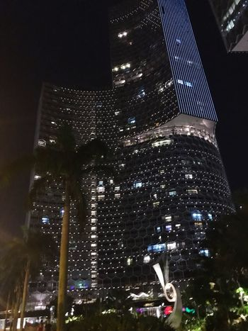Night Illuminated Architecture Low Angle View Built Structure Building Exterior City